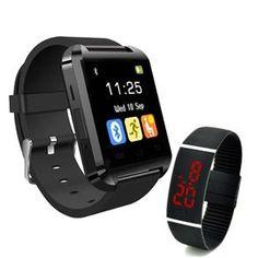 Kit Smartwatch bluetooth + Relógio digital LED