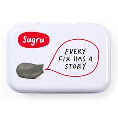 [Storage Tin] Every fix has a story (grey)