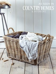 Rattan Rectangular Basket  |  Cox & Cox
