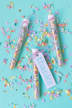 DIY Confetti Wedding Favors