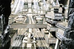 """Underground City"" Illustration by Shigeru Komatsuzaki"