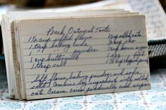 Step back in time with this vintage Peach Oatmeal Torte recipe. Read about this recipe card's history and view other recipes at the Vintage Recipe Project Retro Recipes, Old Recipes, Vintage Recipes, Other Recipes, Great Recipes, Cooking Recipes, Delicious Recipes, Peach Oatmeal, My Favorite Food