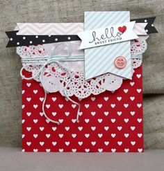 Love this adorable Valentine's Day treat bag!