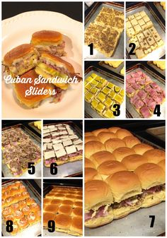 Cuban Sandwich Sliders recipe with braised pulled pork; step by step recipe