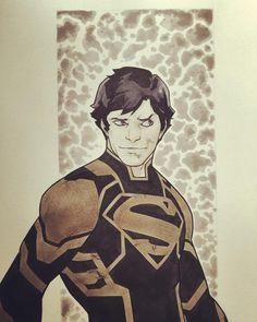 #Superboy #Commission #ccxp2015 #RBSilva #dccomics #wip by rubens_bernardino