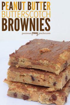 Peanut Butter Butterscotch Brownies