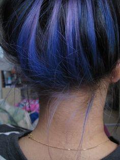 Blue-purple lowlights
