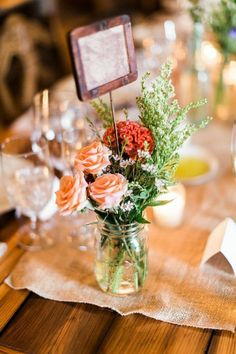 Casual New York Wedding at The Inn at West Settlement from Fabrice Tranzer - wedding centerpiece idea