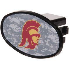 "USC Trojans Plastic Oval Fixed 2"" Digi Camo Hitch Receiver - $11.99"