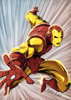 classic Ironman by Anny-D on DeviantArt Marvel Art, Marvel Avengers, Cartoon As Anime, Anime Nerd, Heroes Reborn, Graphic Novel Art, Best Iron, Cartoon Drawings, Drawing Sketches