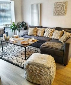 Discount Fall Home Decorations Info: 3358014965 Corner Sofa Living Room Layout, Corner Sofa Bed With Storage, Narrow Living Room, Living Room Decor Cozy, Living Room Grey, Living Room Sofa, Home Living Room, Grey Corner Sofa, Charcoal Sofa Living Room