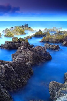Porto Moniz, Madeira, Portugal, the waters are like turquoise stones.