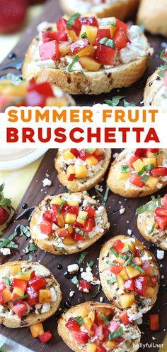Fruit Recipes, Summer Recipes, Snack Recipes, Cooking Recipes, Recipies, Appetizer Recipes, Low Calorie Recipes, Easy Healthy Recipes, Easy Meals