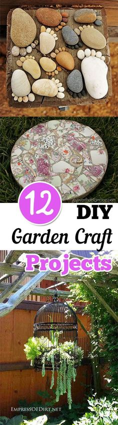 12 DIY Garden Craft Projects. Gardening, home garden, garden hacks, garden tips and tricks, growing plants, plants, vegetable gardening, planting fruit, flower garden, outdoor living