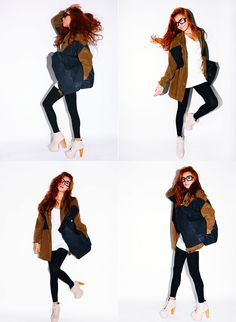 i LOVE jackets made out of two types of material. Camel and jean jacket!!