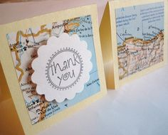 Cards Made from Vintage Maps
