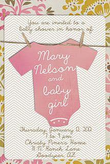 Baby shower invitation with onesie!