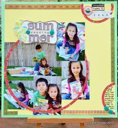 Summer Reading *Paper Bakery July Add On kit* - Scrapbook.com