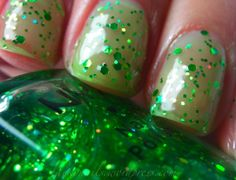 NYX ~ Enchanted Forest - Here it is on its own but It's great over a dark polish BNNU $1 with other puchase