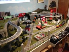 For some people, collecting toy trains isn't just another hobby or interest; The concept of collecting toy trains has been Ho Scale Train Layout, Ho Scale Trains, Ho Trains, Model Train Layouts, Model Trains, Lionel Trains Layout, Model Railway Track Plans, Third Rail, Train Room