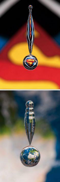 the world seen through a water drop