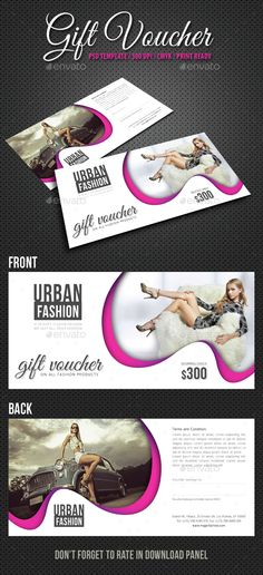 Gift Voucher Loyalty, Loyalty cards and Psd templates - payment voucher template
