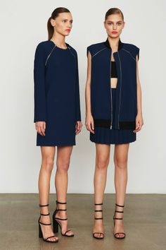 The cut of the left dress is perfect. #dkny #DPF2014