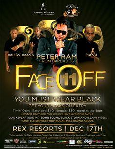 True Masqueraders 'FACE-OFF 11' @ The Rex Resorts Dec 17th, 2016
