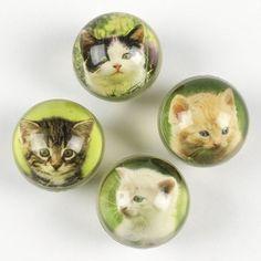 Kitten Party Favor Bouncing Balls