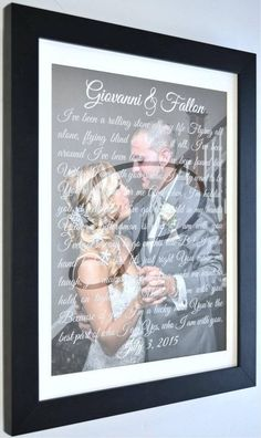 First Dance Song Lyrics Personalized Wedding 1st Anniversary
