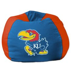 College Bean Bag Chair NCAA Team: Kansas - http://delanico.com/bean-bag-chairs/college-bean-bag-chair-ncaa-team-kansas-640205517/