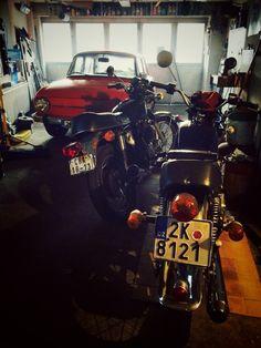 #motorcycle #Honda CB400 four #Honda CB550 four  Škoda 100