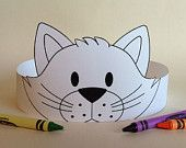 Create your own Cat Crown! Print, color, cut & glue your cat crown together & adjust to fit anyones head! Crown Printable, Paper Crowns, Crafts For Kids To Make, Animal Crafts, Preschool Activities, Kitty, Printables, Cats, Color