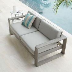 Portside Sofa - Weathered Gray