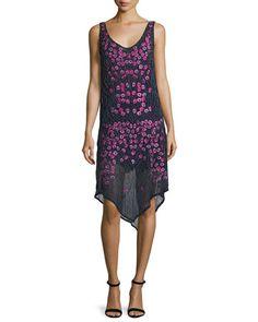 Haute Hippie Geometric Hem Long Sleeve Dress
