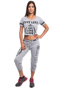 b006a36b8d3 Special One-Ladies Summer Set jogger pants and crop Top shirt for Summer  wear or Active wear