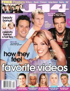 J-14 Magazine. Just for teens. 90s fan girl love. These posters were all over my walls. Nsync. Carson Daily. Limp Bizkit. 98°. Britney Spears. Blink 182. Backstreet Boys.