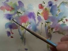Loose watercolours Sweet Peas by Andrew Geeson - YouTube