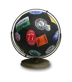 Travels Globe by wendygold on Etsy, $450.00