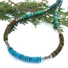 Filled with the lushness of four colors of genuine turquoise gemstone rondelles…