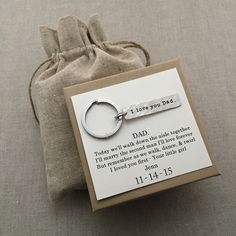 Keychain gift idea for father of the bride
