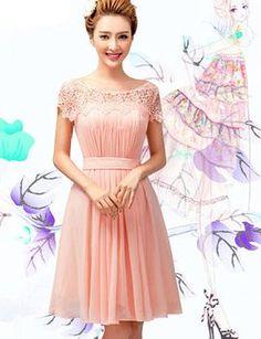 Lactraum Brautjungfernkleid Ballkleid Abendkleid Abschlussball Kleider Hochzeitskleider Abiballkleid Spitze LF4083 (44)
