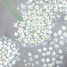 The Queen Anne's lace pattern, based on flowers from Tory's own garden #toryspring14 #nyfw