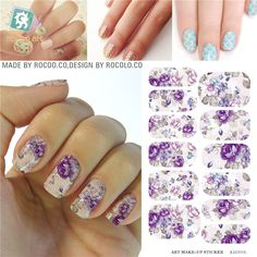 Cheap Stickers & Decals, Buy Directly from China Suppliers:New Nail sticker flowers Korean Harajuku Manicure Tools Solvent water transfer nail sticker Patch adhesive foil nail art