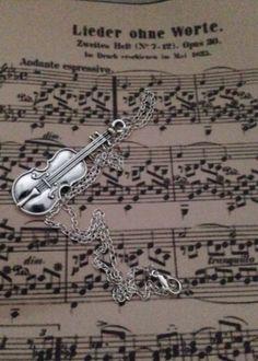 VIOLIN Pendant Charm NECKLACE SHERLOCK INSPIRED Music #wyntersemporium #NecklacePendant