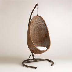 exotisches Designer-Möbelstück aus natürlichem Rattan
