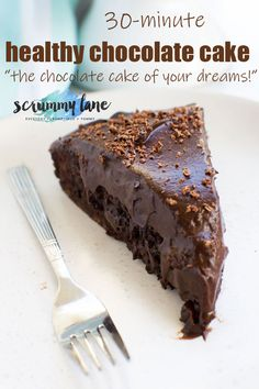 A 30 minute healthy chocolate cake? New Year's Desserts, Desserts For A Crowd, Best Dessert Recipes, Cheesecake Recipes, Delicious Desserts, Easy Recipes, Healthy Recipes, Healthy Chocolate, Chocolate Desserts