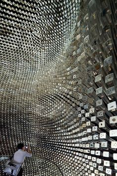 The Seed Cathedral created by Heatherwick Studio for the Shanghai Expo in 2010