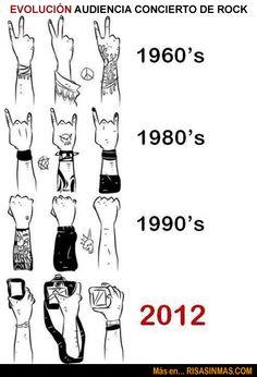 Evolución de la audiencia de los conciertos de rock   Risa Sin Más