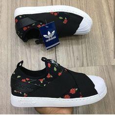 Tenis Slip Feminino Estampado Adidas Star Sapatos Tênis de